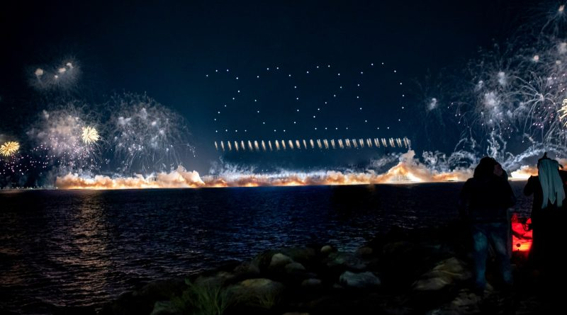 SKYMAGIC and Fireworks by Grucci join forces to deliver a record-breaking PyroDrone™ show performance