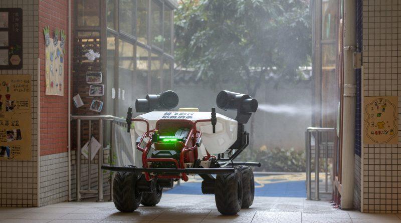 XAG Robot Joins Drone Fleet to Initiate Ground Air Disinfection in Coronavirus Battle
