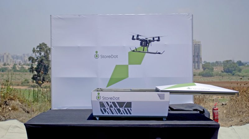 StoreDot Demonstrates World's First 5-Minute Charge of a Commercial Drone, Making Continuous & Fully-Autonomous Drone Delivery a Reality